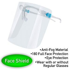 Face Shield w/ Frame (4 Pack)